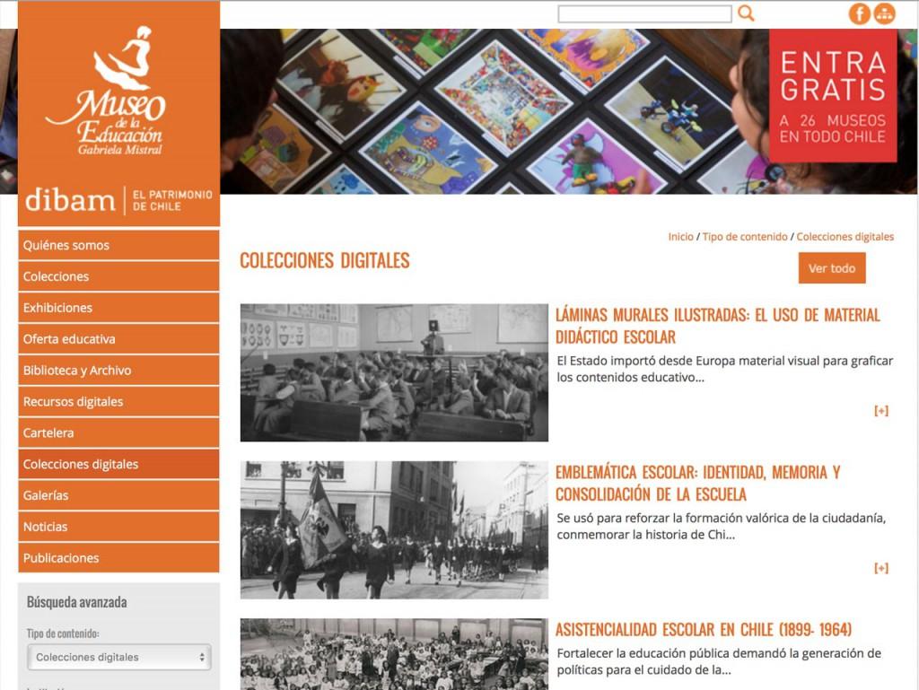 - Colecciones digitales del Museo de la Educación Gabriela Mistral – Dibam