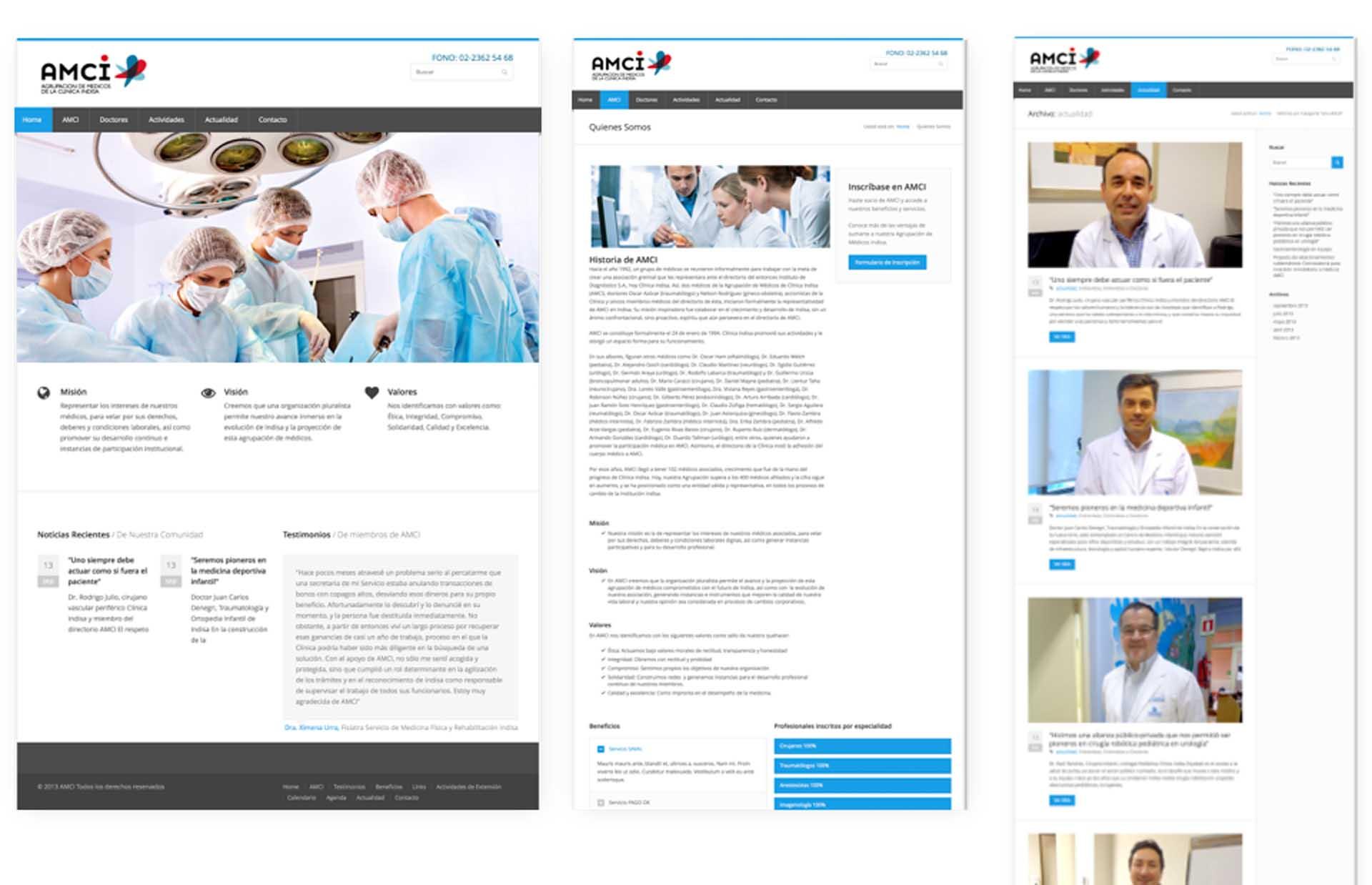 AMCI: Asociación de médicos Clínica Indisa: Asesoría y desarrollo tecnológico
