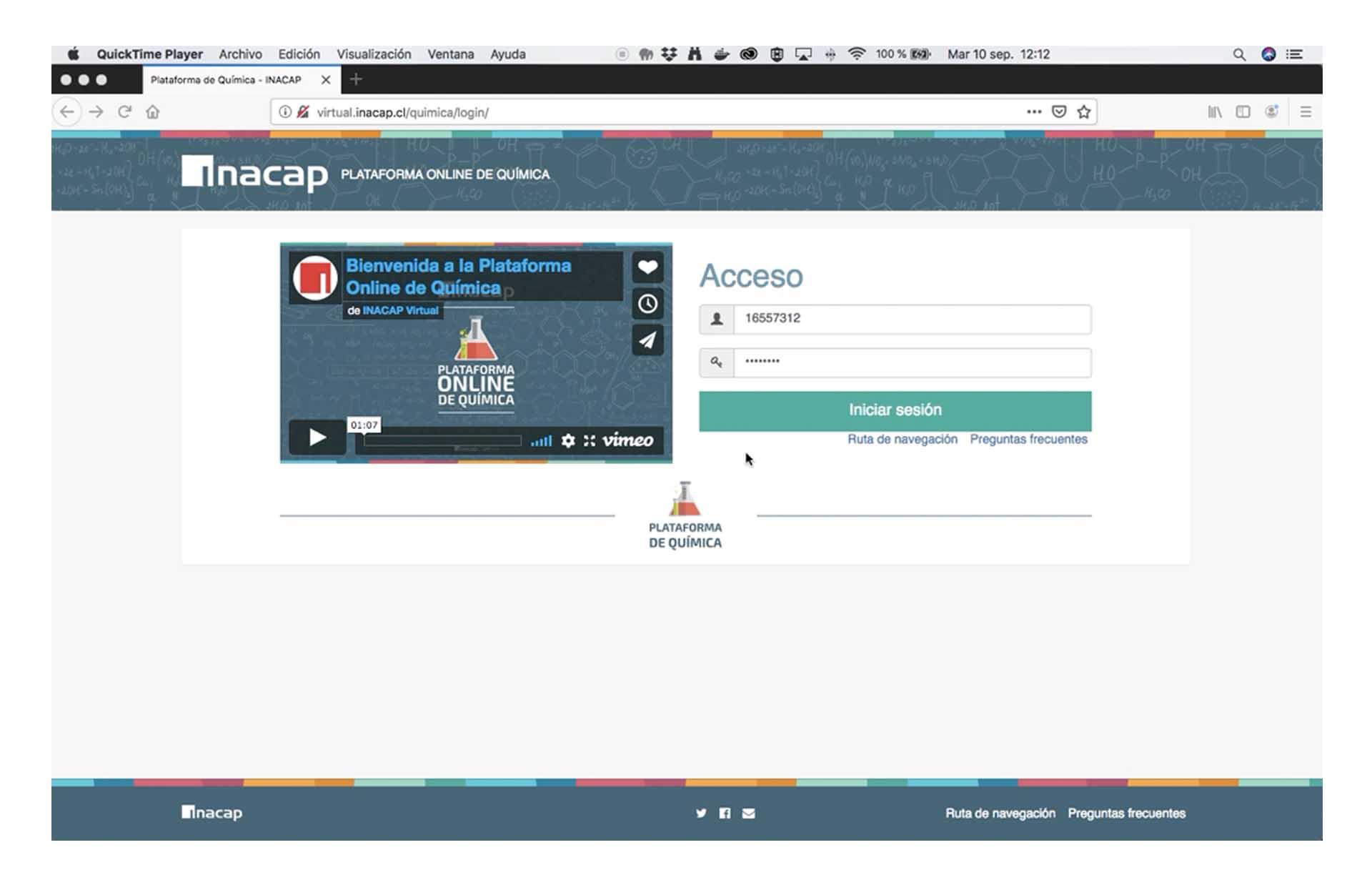 INACAP: E-Learning basado en Moodle